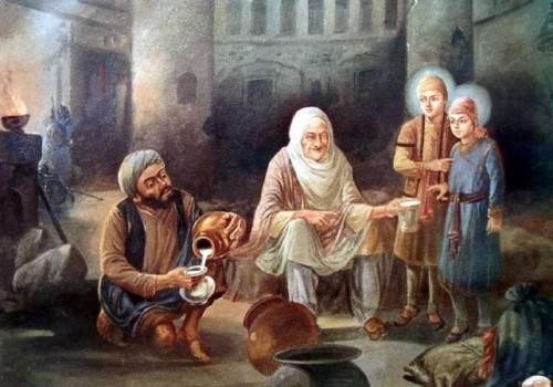 Moti-Mehra-pouring-milk-for-the-tender-sons-of-Guru-Gobind-S1